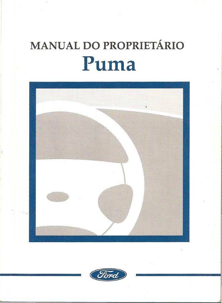 manual do proprietario ford puma rh pt slideshare net Ford Puma Interior Puma 160 Ford St Engine