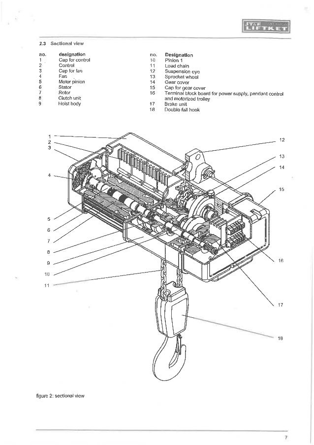 Electric Chain Hoist Control Diagram on demag overhead crane pendant control wiring diagram