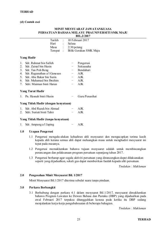 Manual Format Dan Contoh Penulisan Esei Berformat Bm P2 2017