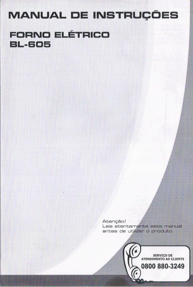 Manual Forno Eletrico BL 605