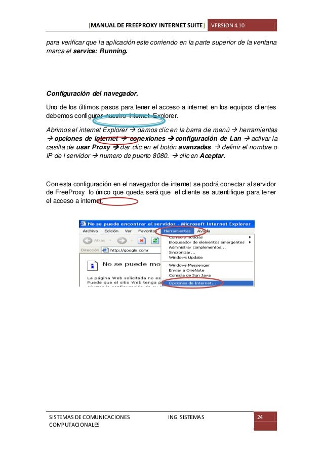 Free Proxy Internet Suite Manual