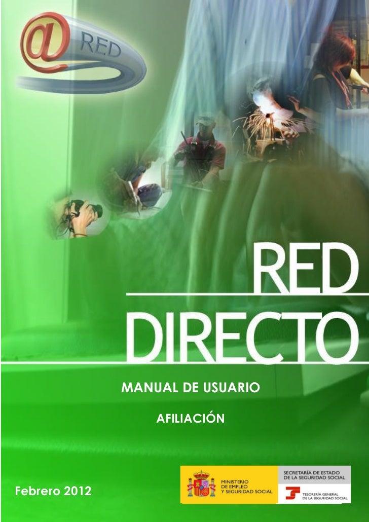 MANUAL DE USUARIO.. AFILIACIÓN                            MANUAL DE USUARIO AFILIACIÓN               MANUAL DE USUARIO    ...