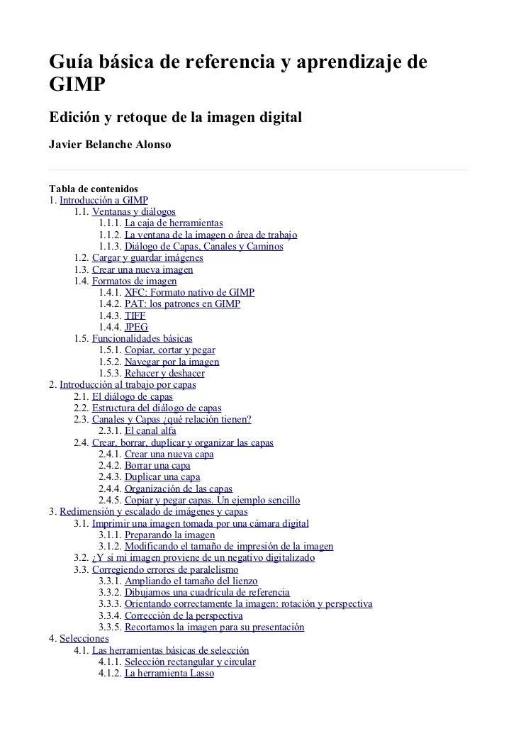 Manual gimp (spanish) Slide 1