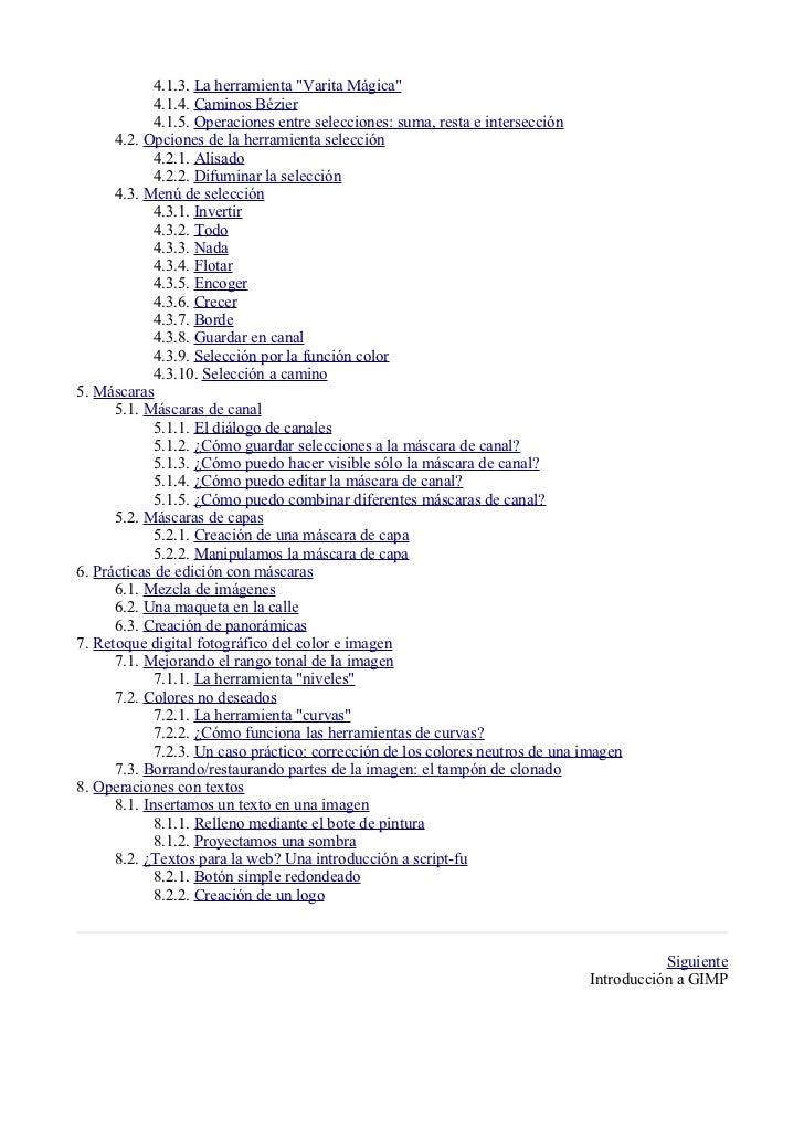 Manual gimp (spanish) Slide 2