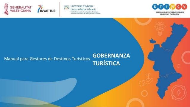 Manual para Gestores de Destinos Turísticos GOBERNANZA TURÍSTICA