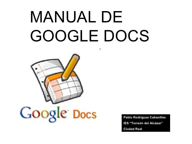 Manual Google Docs