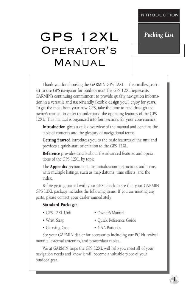 manual gps 12 xl rh slideshare net gps 12xl garmin manual en español garmin gps 12 manual pdf