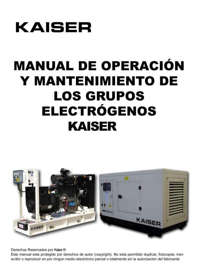 Manual grupos electrogenos kaiser for Grupos electrogenos kaiser