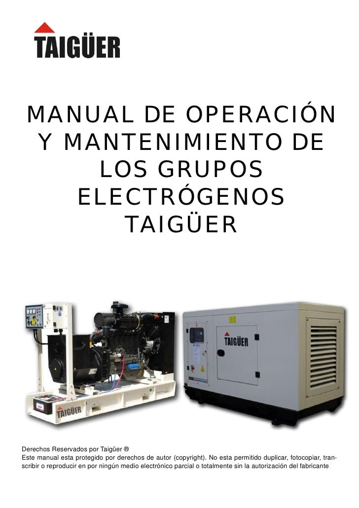 Manual de mantenimiento grupo electrogenos