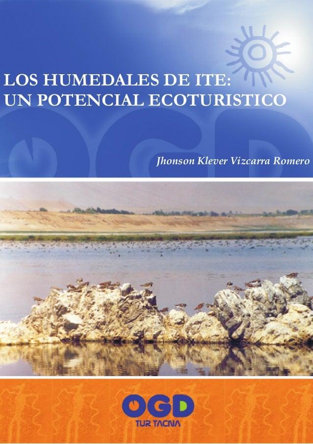 LOS HUMEDALES DE ITE:UN POTENCIAL ECOTURISTICO             Jhonson Klever Vizcarra Romero