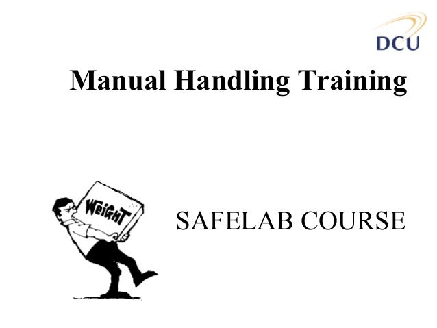 what is a manual handling course