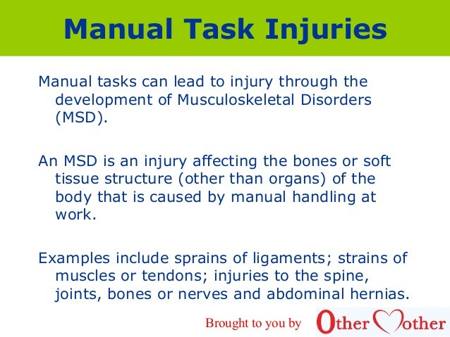 manual handling pres rh slideshare net musculoskeletal disorders msd manual handling MSDS Sheets