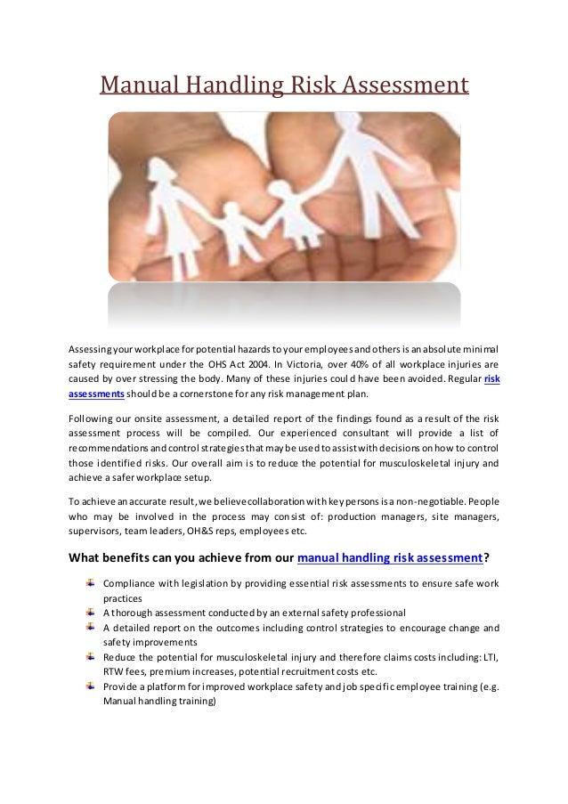 Manual handling risk assessment – Manual Handling Risk Assessment