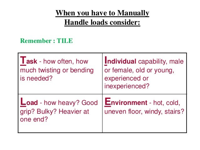 Manual Handling Training in Work Places