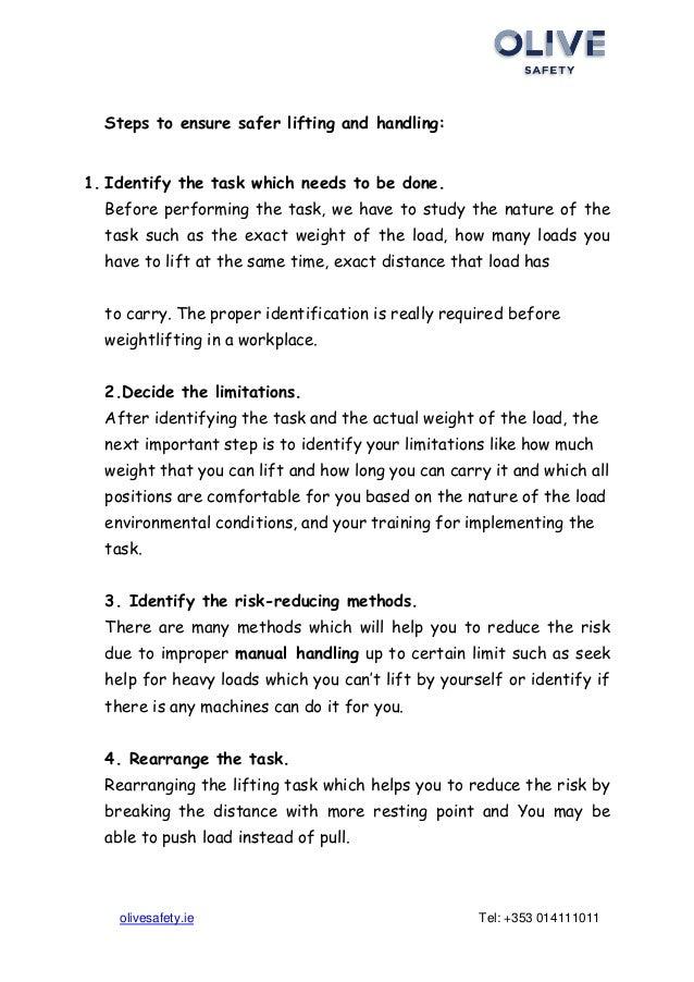 4 Steps Manual Handling