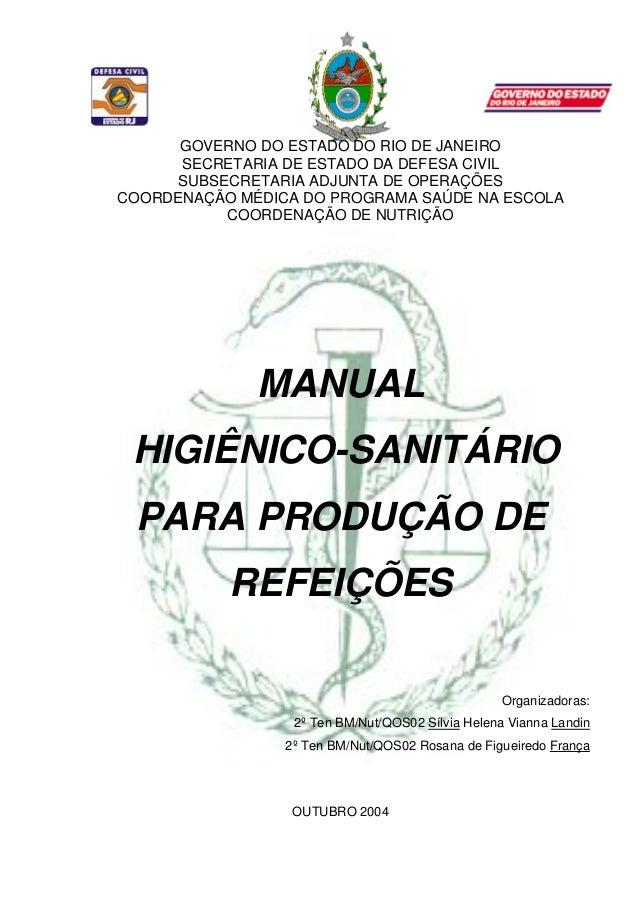 GOVERNO DO ESTADO DO RIO DE JANEIRO      SECRETARIA DE ESTADO DA DEFESA CIVIL     SUBSECRETARIA ADJUNTA DE OPERAÇÕESCOORDE...