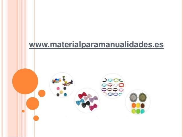 www.materialparamanualidades.es