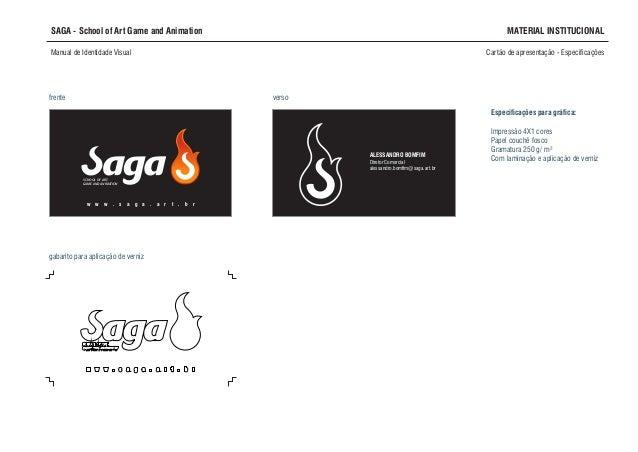 Projeto Identidade Visual Escola Saga