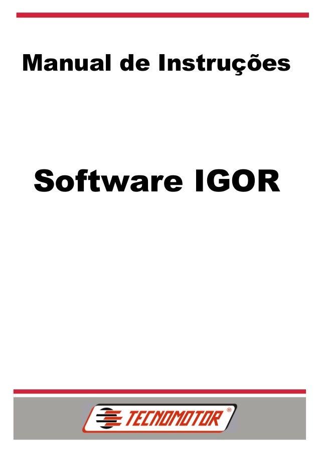 Manual de Instruções Software IGOR