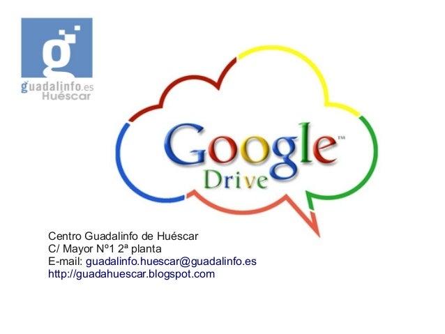 Centro Guadalinfo de Huéscar C/ Mayor Nº1 2ª planta E-mail: guadalinfo.huescar@guadalinfo.es http://guadahuescar.blogspot....