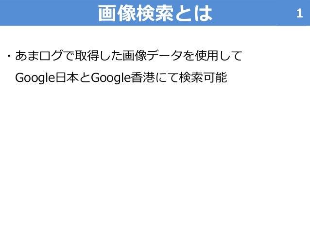 あまログ利用マニュアル「Google画像検索」 Slide 2