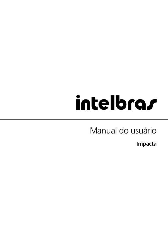 Manual do usuário  Impacta