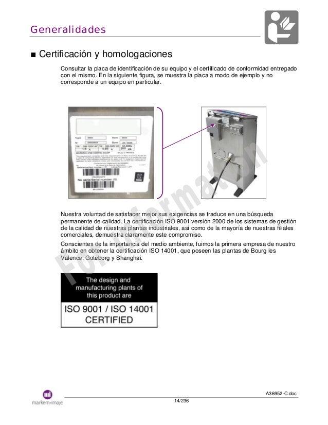 Manual impresora codigo imaje 9040