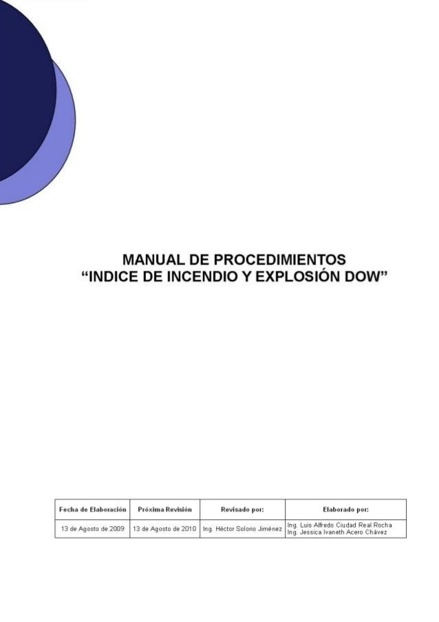MANUAL PARA LA DETERMINACIÓN DEL INDICE DE INCENDIO Y EXPLOSIÓN DE DO…