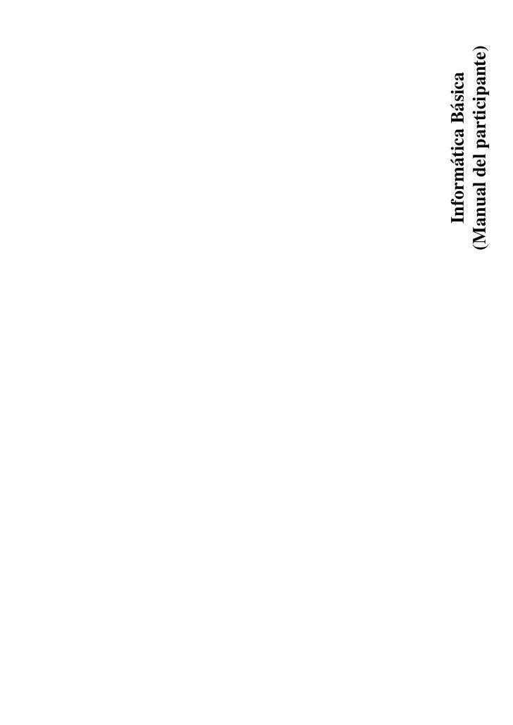 Informática Básica (Manual del participante)