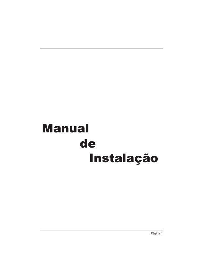 Manual de Instalação  Página 1