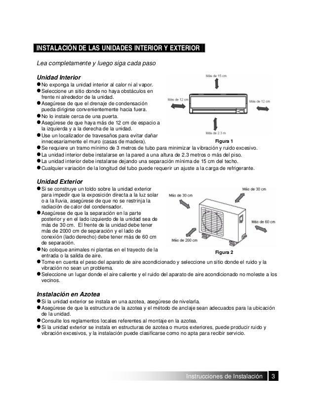 Manual instalacion aire acondicionado tipo minisplit for Manual aire acondicionado