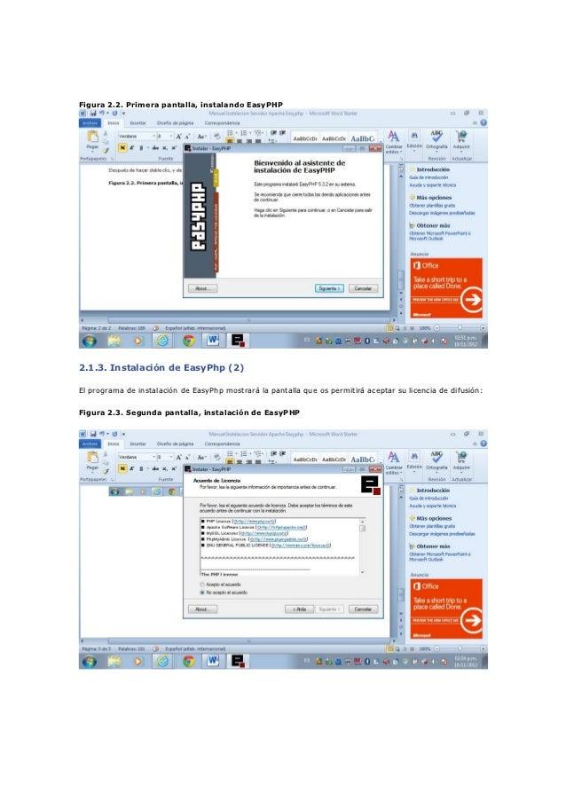 Manual Instalacion Servidor Apache Easyphp on Easy Php