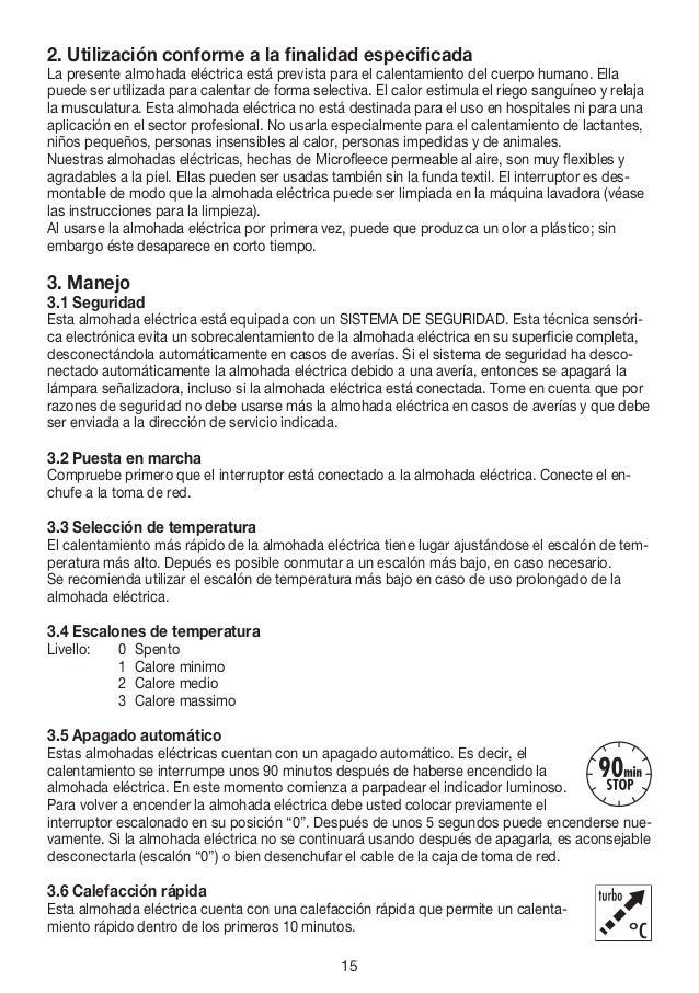 Manual instrues almofada elctrica hk45 beurer 15 fandeluxe Gallery