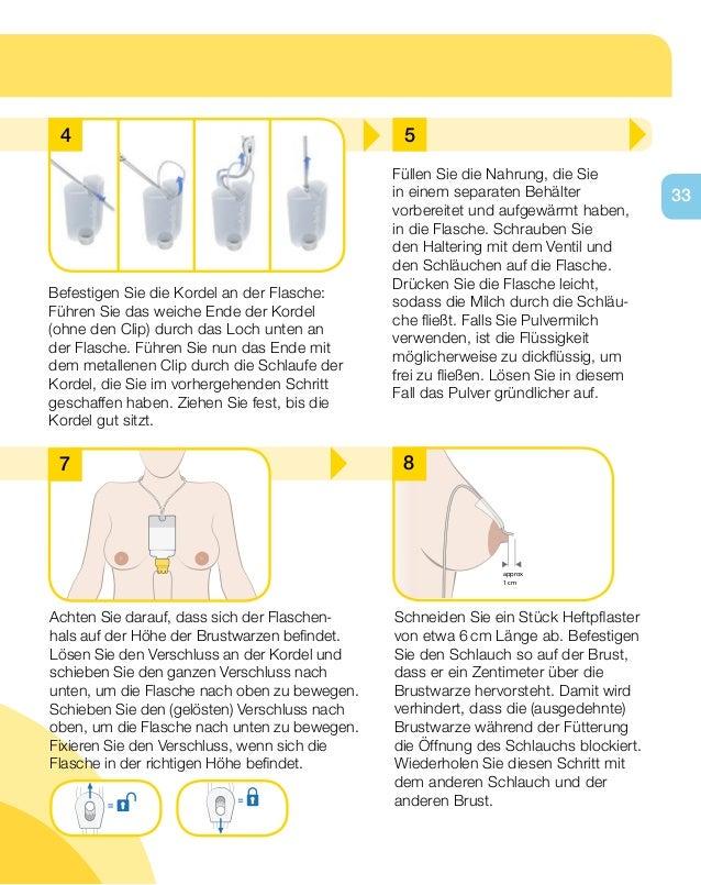 Manual de intru es sistema de nutri o suplementar medela for Medela deckel ohne loch