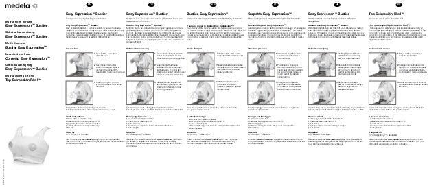© Medela AG 200.4855/2013-11/B  EN DE FR IT NL ES  Instructions for use  Easy Expression TM Bustier  Gebrauchsanweisung  E...
