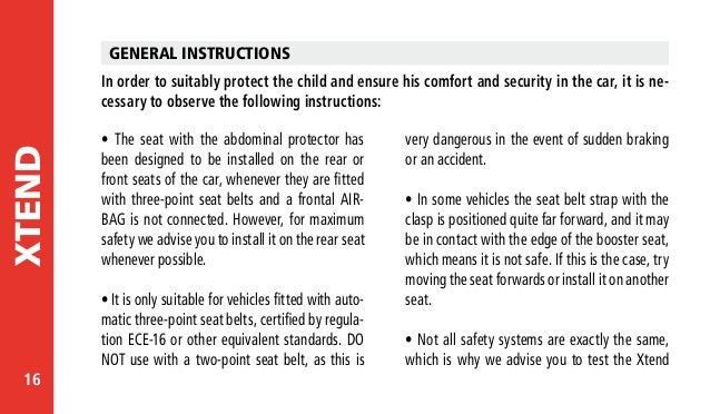 Jane Indy Car Seat Instructions