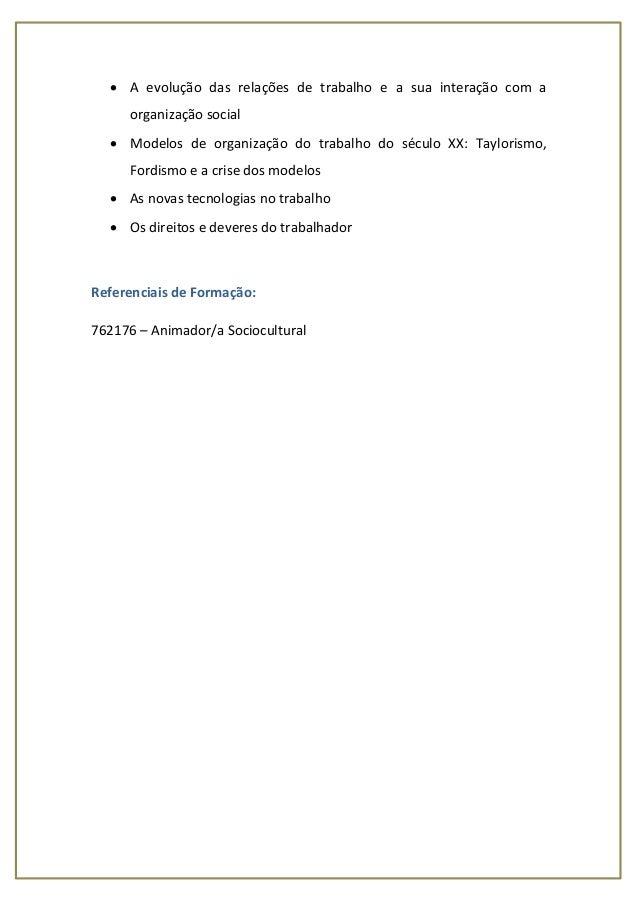 UFCD 4254 - Integração Social e Trabalho Slide 3