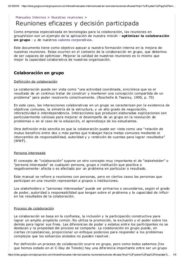23/10/2015 https://sites.google.com/a/groupvision.com/intranet/manualesinternos/nuestrasreuniones/reunioneseficazes?tmp...
