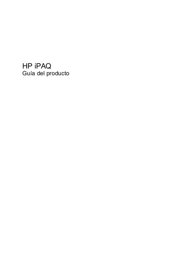 HP iPAQGuía del producto