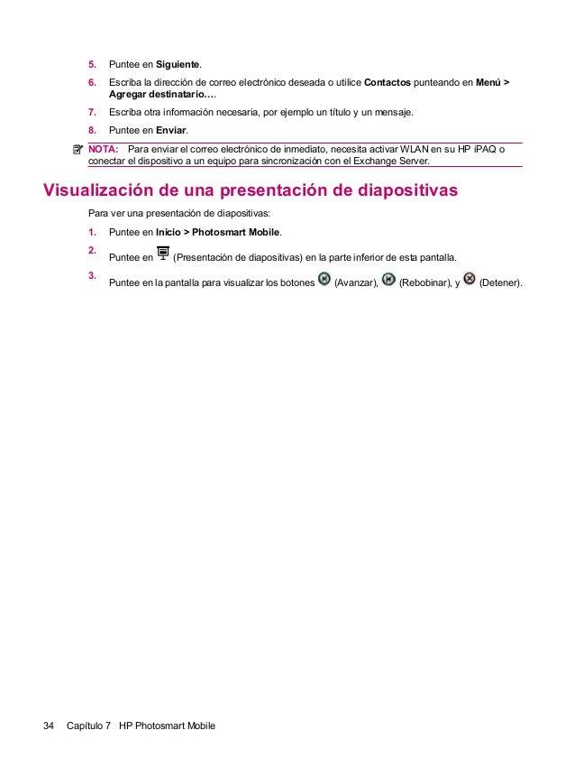 5. Puntee en Siguiente.6. Escriba la dirección de correo electrónico deseada o utilice Contactos punteando en Menú >Agrega...