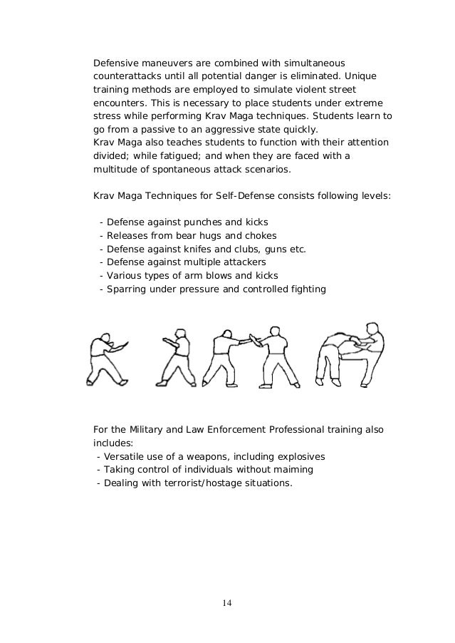 krav maga techniques manual pdf