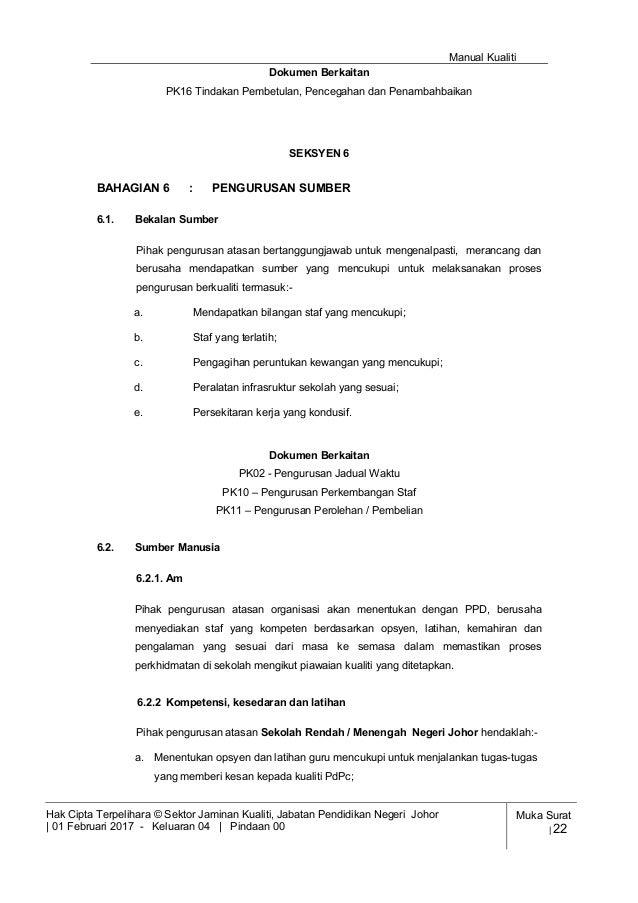 Manual Kualiti Spsk 2017 Terkini