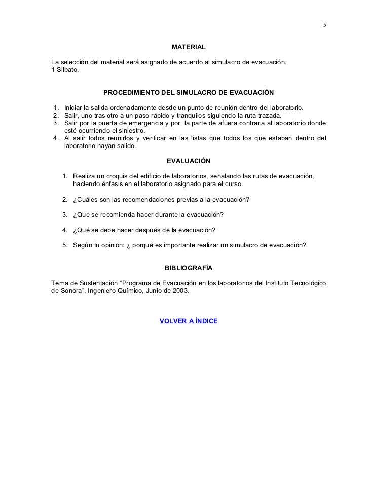 5                                           MATERIAL  La selección del material será asignado de acuerdo al simulacro de e...