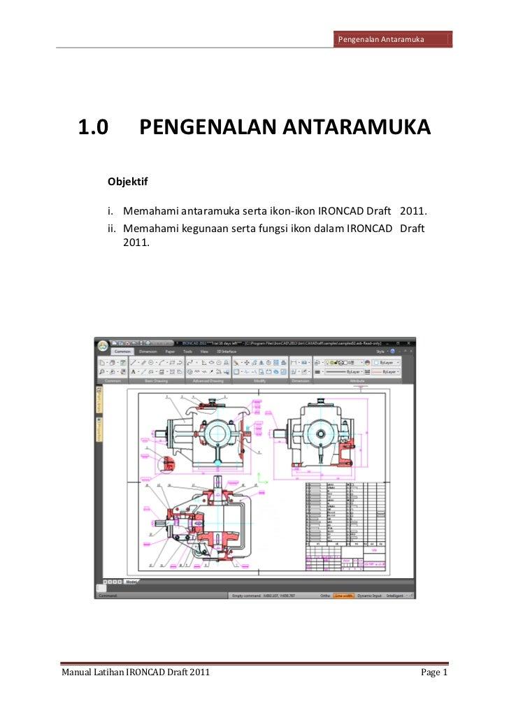 Manual latihan iron cad draft 2011 66 3 ccuart Choice Image
