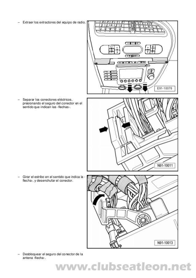 Manual leon ii desmontar radio