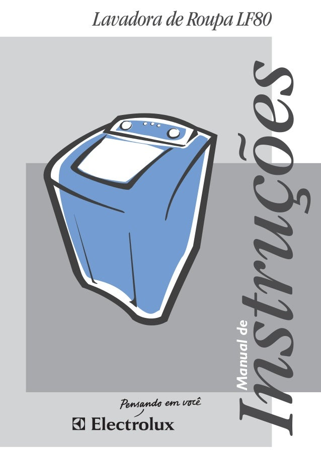 Lavadora de Roupa LF80 Instruções Manualde