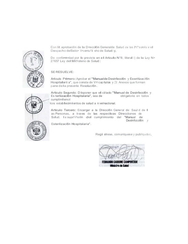 Manual limpieza y desinfeccion Peru Bioseguridad hospitalaria