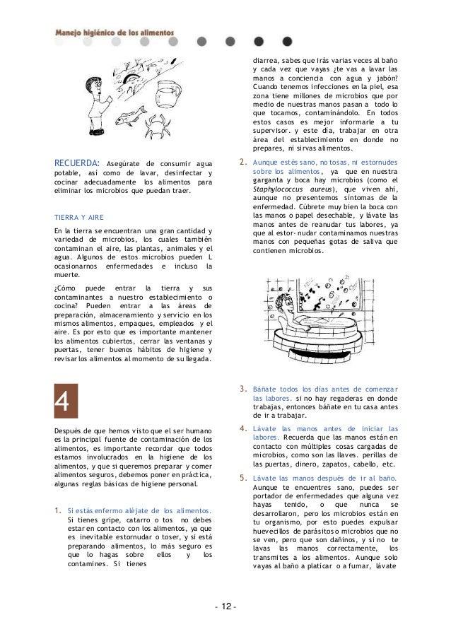 Manual manejo higienico de alimentos