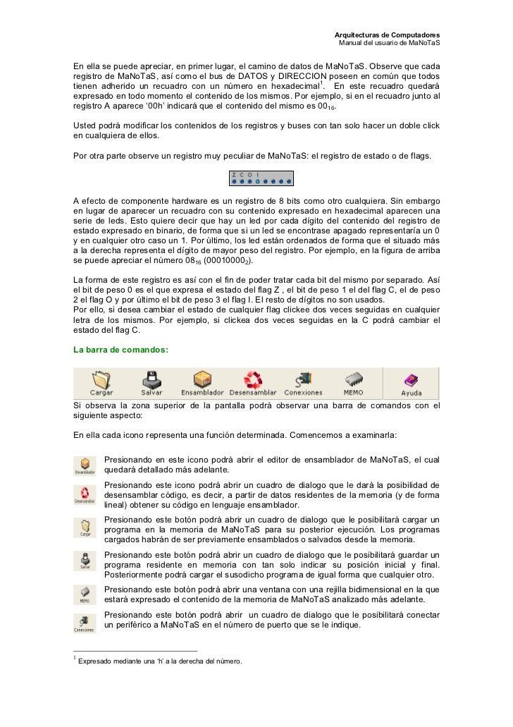 Arquitecturas de Computadores                                                                        Manual del usuario de...