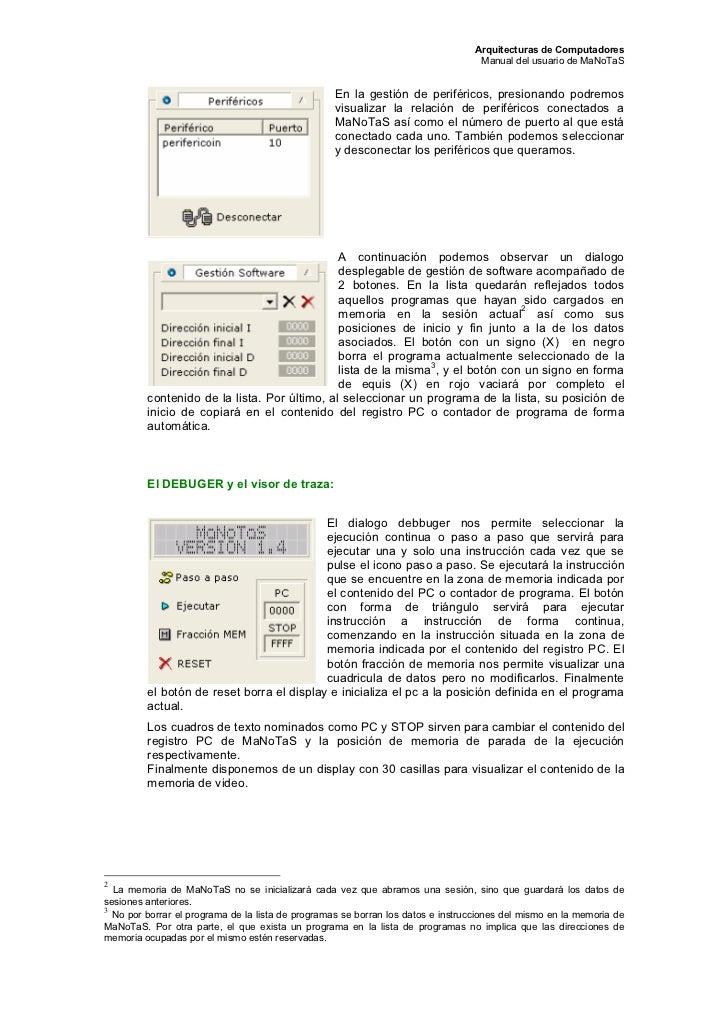 Arquitecturas de Computadores                                                                                  Manual del ...